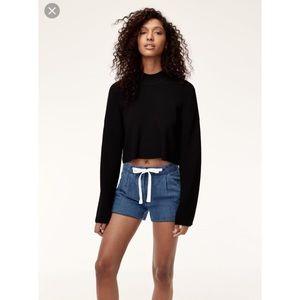 Aritzia Wilfred Allegra Linen Blend Shorts